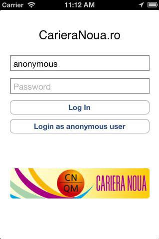 aplicatia de Job pentru iPhone, CarieraNoua
